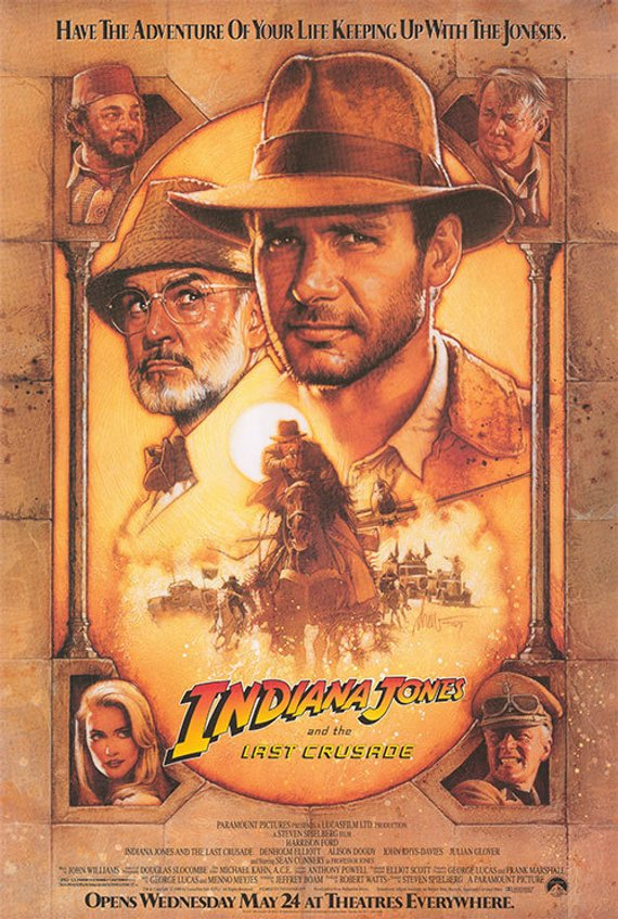 Original Indiana Jones and the Last Crusade (1989) Movie Poster Reprint