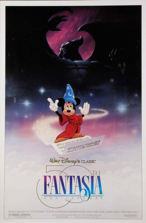 Vintage Fantasia Movie Poster// Classic Disney Movie Poster//Movie Poster//Poster Reprint//Home Decor//Wall Decor//Vintage Art