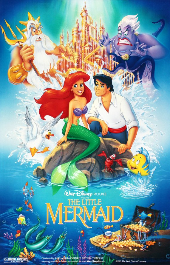 Vintage Little Mermaid Movie Poster// Classic Disney Movie Poster//Movie Poster//Poster Reprint//Home Decor//Wall Decor//Vintage Art