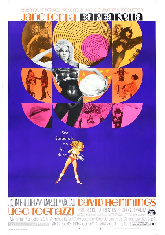 Vintage Barbarella Movie Poster// Classic Movie Poster//Movie Poster//Poster Reprint//Home Decor//Wall Decor//Vintage Art