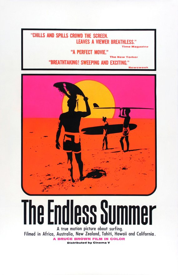 Vintage Endless Summer Movie Poster// Classic Movie Poster//Movie Poster//Poster Reprint//Home Decor//Wall Decor//Vintage Art