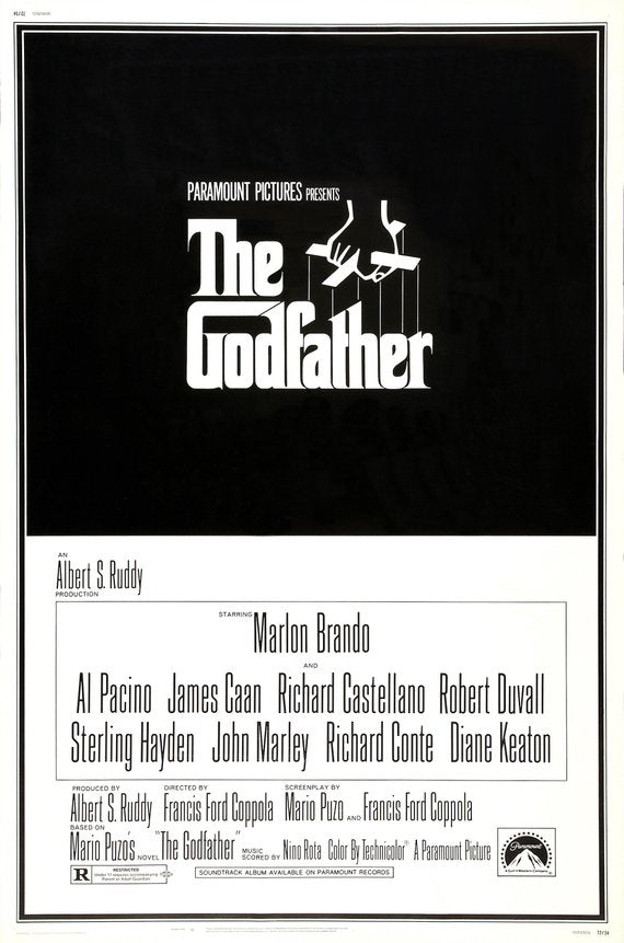 Original Godfather (1972) movie poster reprint