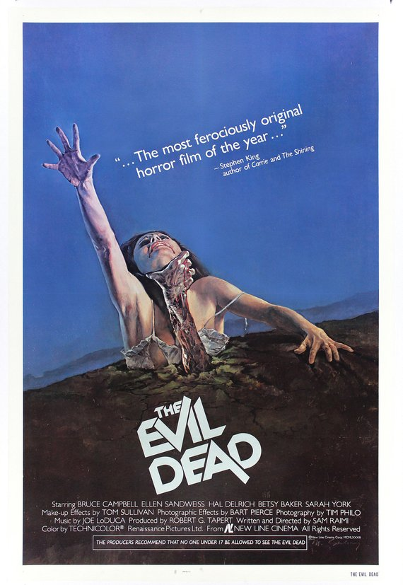 Vintage Evil Dead Movie Poster// Classic Movie Poster//Movie Poster//Poster Reprint//Home Decor//Wall Decor//Vintage Art