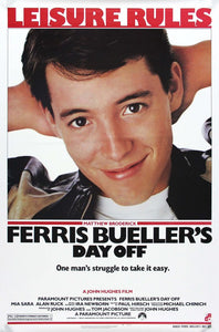 Vintage Ferris Bueller's Day Off Movie Poster// Classic Movie Poster//Movie Poster//Poster Reprint//Home Decor//Wall Decor//Vintage Art