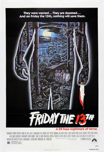 Vintage Friday the 13th Movie Poster// Classic Movie Poster//Movie Poster//Poster Reprint//Home Decor//Wall Decor//Vintage Art