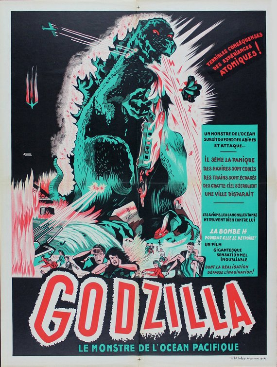 Vintage Godzilla French Release Movie Poster// Classic Movie Poster//Movie Poster//Poster Reprint//Home Decor//Wall Decor//Vintage