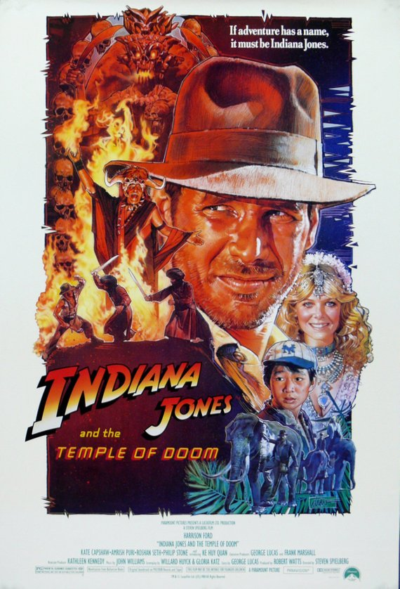Vintage Indiana Jones and the Temple of Doom Movie Poster// Classic Movie Poster//Movie Poster//Poster Reprint//Home Decor//Wall Decor