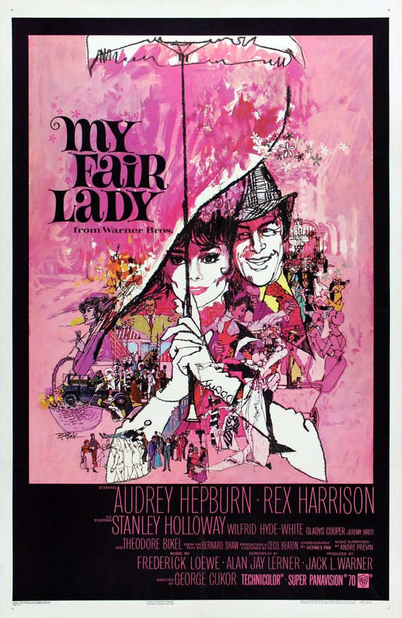 Vintage My Fair Lady Movie Poster//Classic Movie Poster//Movie Poster//Poster Reprint//Home Decor//Wall Decor//Vintage Art