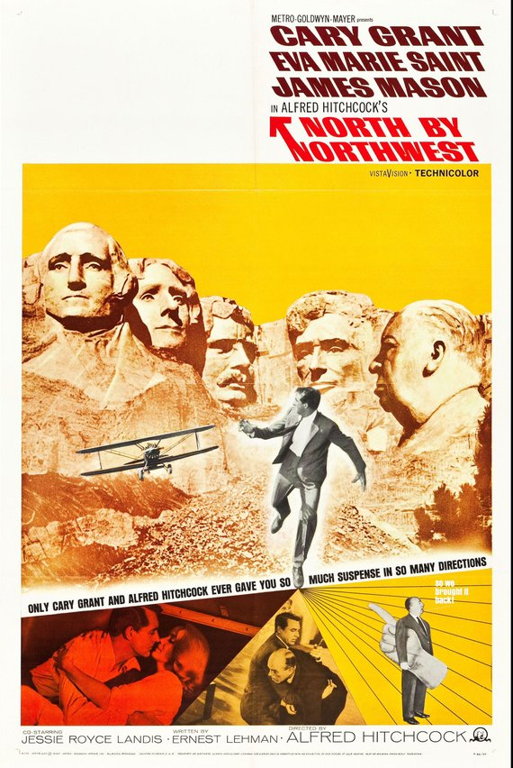 Vintage North by Northwest Movie Poster//Classic Movie Poster//Movie Poster//Poster Reprint//Home Decor//Wall Decor//Vintage Art