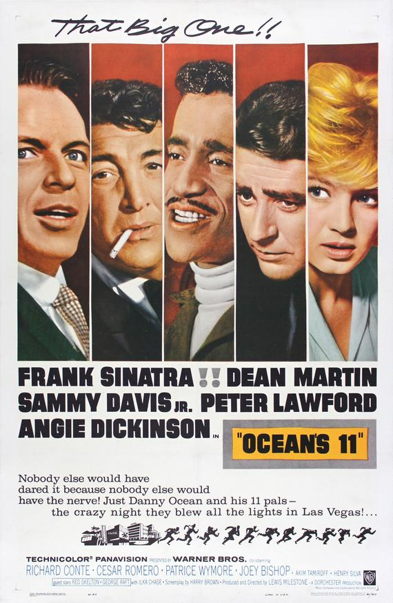 Vintage Ocean's Eleven Movie Poster//Classic Movie Poster//Movie Poster//Poster Reprint//Home Decor//Wall Decor//Vintage Art