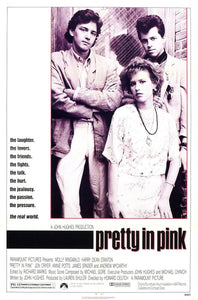 Vintage Pretty in Pink Poster//Classic Movie Poster//Movie Poster//Poster Reprint//Home Decor//Wall Decor//Vintage Art
