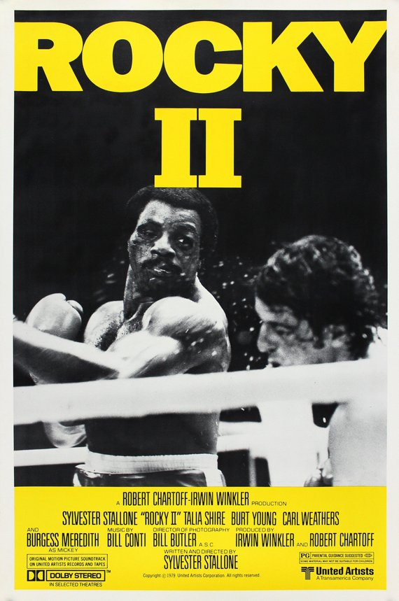 Vintage Rocky II Poster//Classic Movie Poster//Movie Poster//Poster Reprint//Home Decor//Wall Decor//Vintage Art