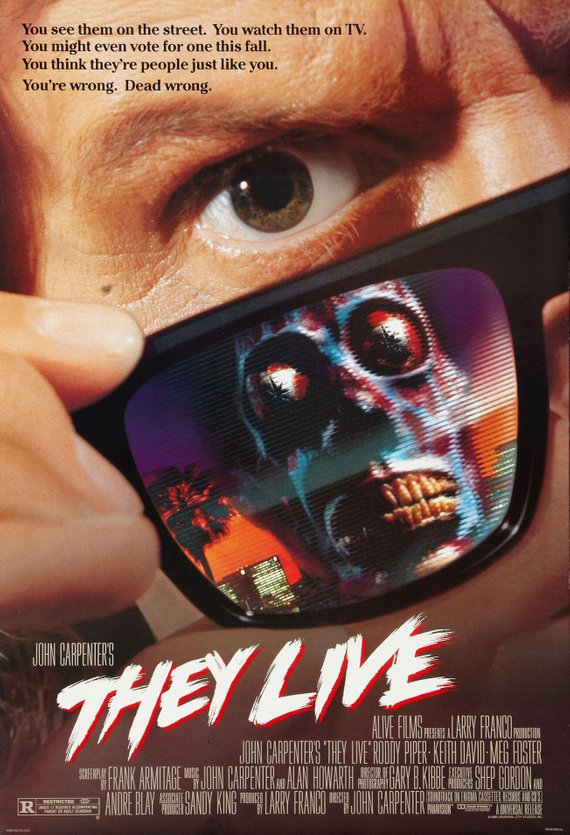 Vintage They Live Poster//Classic Movie Poster//Movie Poster//Poster Reprint//Home Decor//Wall Decor//Vintage Art