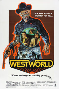 Vintage Westworld Poster//Classic Movie Poster//Movie Poster//Poster Reprint//Home Decor//Wall Decor//Vintage Art