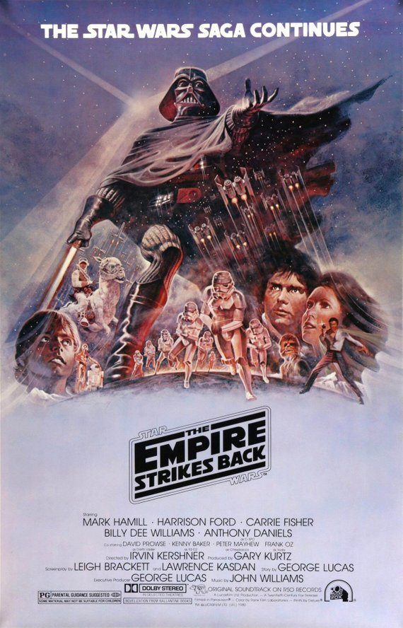 Star Wars Poster//Star Wars Movie Poster//Empire Strikes Back Star Wars Original Reprint//Movie Poster//Poster Reprint