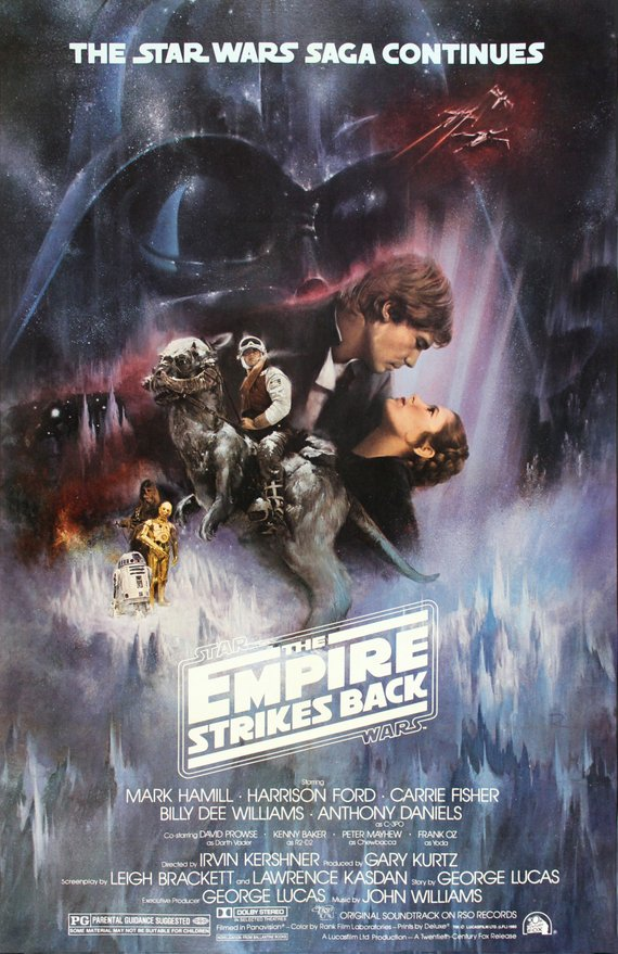 Star Wars Poster//Star Wars Movie Poster//Empire Strikes Back Original Reprint//Movie Poster//Poster Reprint