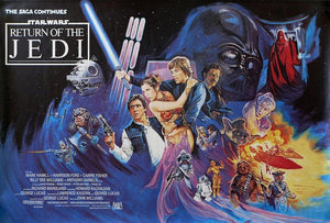 Star Wars Poster//Star Wars Movie Poster//Return of the Jedi Poster//Movie Poster//Poster Reprint
