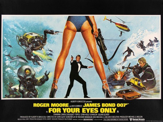 James Bond Poster//James Bond Movie Poster//For Your Eyes Only Poster//Movie Poster//Poster Reprint