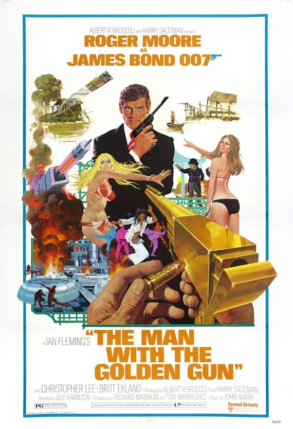 James Bond Poster//James Bond Movie Poster//Man with the Golden Gun Poster//Movie Poster//Poster Reprint