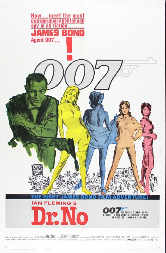 James Bond Poster//Vintage James Bond Movie Poster//Dr. No Movie Poster//Movie Poster//Poster Reprint