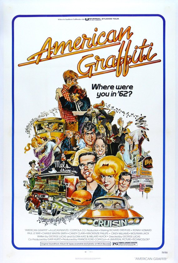 Vintage American Graffiti Movie Poster// Classic Movie Poster//Movie Poster//Poster Reprint//Home Decor//Wall Decor//Vintage Art