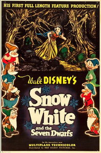 Vintage Snow White Movie Poster// Classic Disney Movie Poster//Movie Poster//Poster Reprint//Home Decor//Wall Decor//Vintage Art
