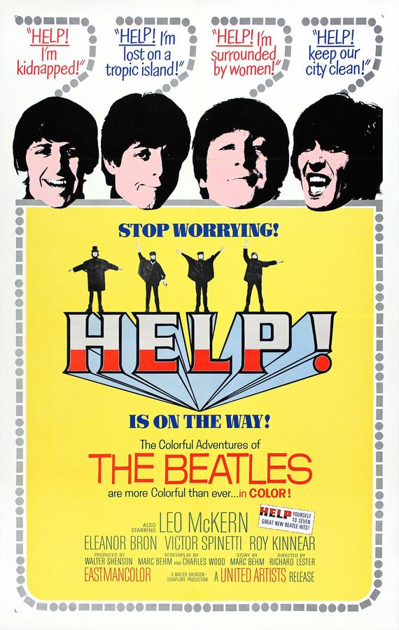 Vintage Beatles Help Movie Poster// Classic Movie Poster//Movie Poster//Poster Reprint//Home Decor//Wall Decor//Vintage Art