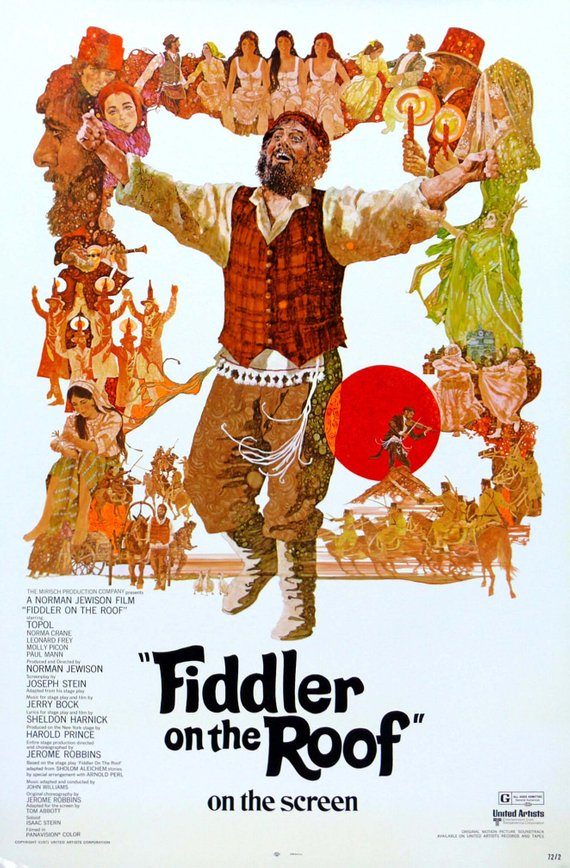 Vintage Fiddler on the Roof Movie Poster// Classic Movie Poster//Movie Poster//Poster Reprint//Home Decor//Wall Decor//Vintage Art