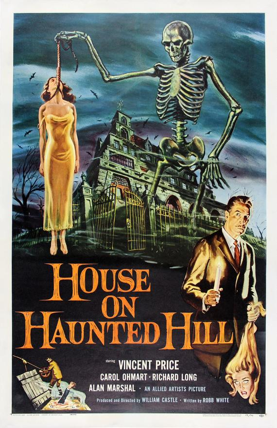 Vintage House on Haunted Hill Movie Poster// Classic Movie Poster//Movie Poster//Poster Reprint//Home Decor//Wall Decor//Vintage Art