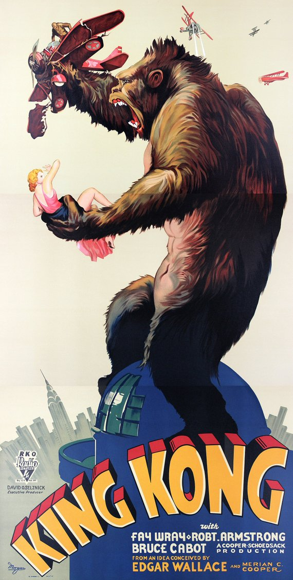 Vintage King Kong Movie Poster//Classic Movie Poster//Movie Poster//Poster Reprint//Home Decor//Wall Decor