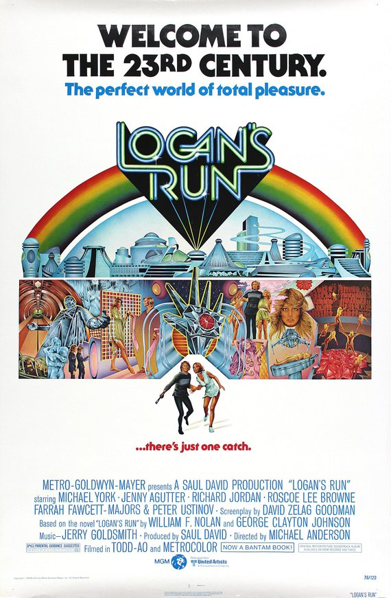 Vintage Logans Run Movie Poster//Classic Movie Poster//Movie Poster//Poster Reprint//Home Decor//Wall Decor//Vintage Art