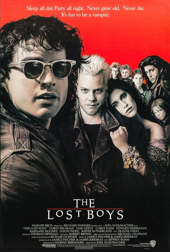 Vintage Lost Boys Movie Poster//Classic Movie Poster//Movie Poster//Poster Reprint//Home Decor//Wall Decor//Vintage Art