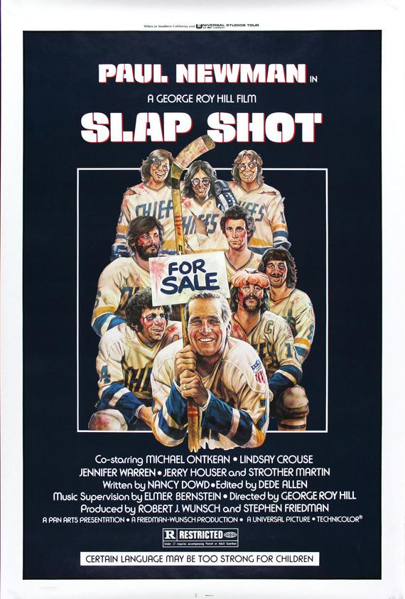 Vintage Slap Shot Poster//Classic Movie Poster//Movie Poster//Poster Reprint//Home Decor//Wall Decor//Vintage Art