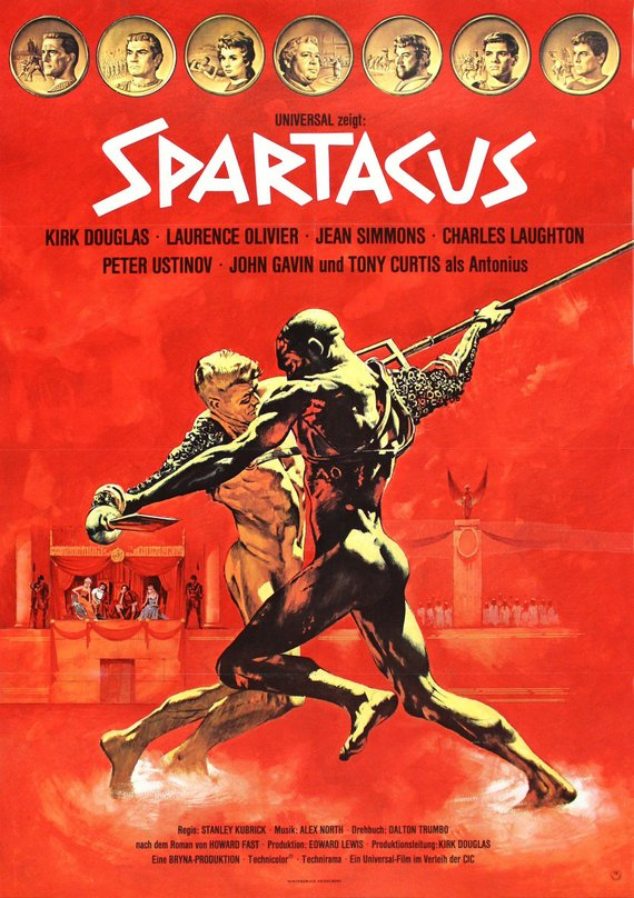 Vintage Spartacus German Release Poster//Classic Movie Poster//Movie Poster//Poster Reprint//Home Decor//Wall Decor//Vintage Art