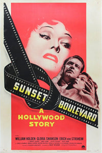 Vintage Sunset Boulevard Poster//Classic Movie Poster//Movie Poster//Poster Reprint//Home Decor//Wall Decor//Vintage Art