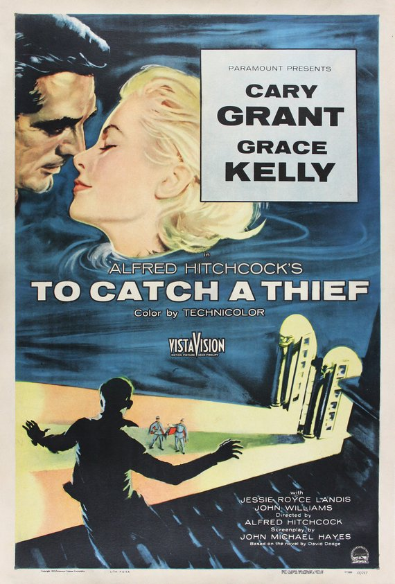 Vintage To Catch a Thief Poster//Classic Movie Poster//Movie Poster//Poster Reprint//Home Decor//Wall Decor//Vintage Art