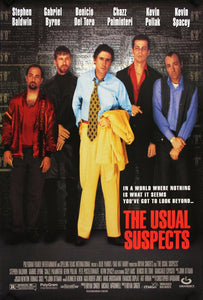 Vintage The Usual Suspects Poster//Classic Movie Poster//Movie Poster//Poster Reprint//Home Decor//Wall Decor//Vintage Art