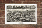 Vintage Burnham Print, Aerial Burnham Photo, Vintage Burnham PA Pic, Old Burnham Photo, Burnham Pennsylvania Poster, 1906