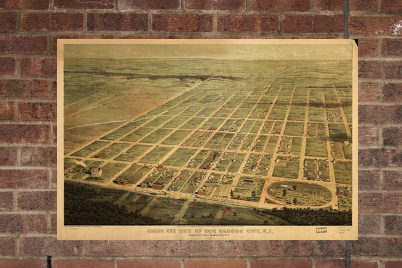 Vintage Egg Harbor City Print, Aerial Egg Harbor City Pic, Vintage Egg Harbor NJ Pic, Old Egg Harbor City Pic, Egg Harbor New Jersey Poster