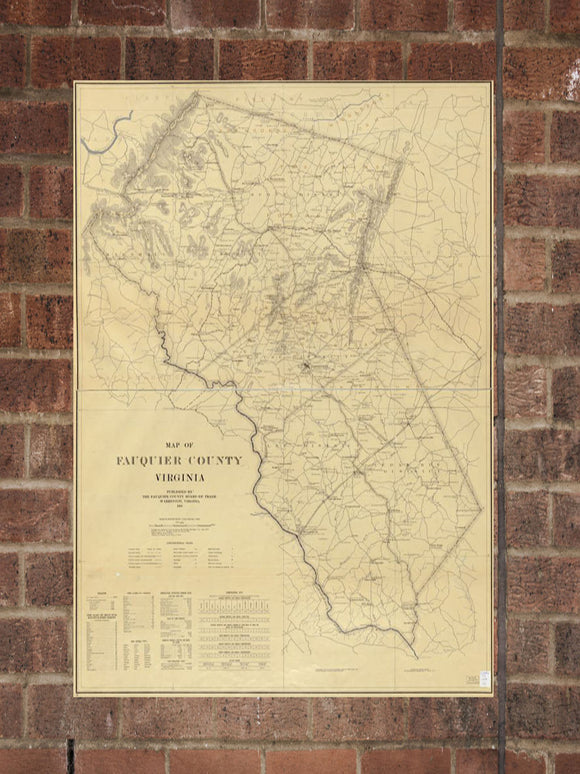 Vintage Virginia Print, Aerial Virginia Photo, Vintage VA Pic, Old Virginia Photo, Virginia Poster, 1914