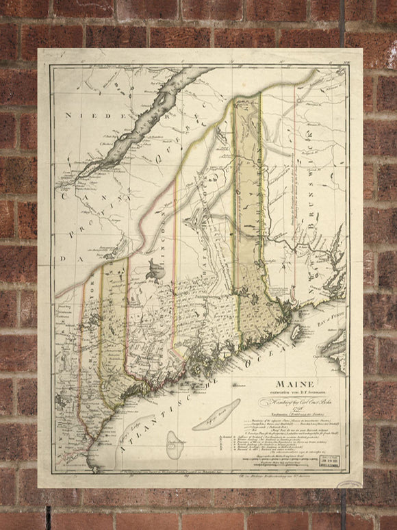 Vintage Maine Print, Aerial Maine Photo, Vintage ME Pic, Old Maine Photo, Maine Poster, 1798