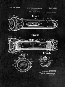 Patent Print of a Flashlight From 1937 - Patent Art Print - Patent Poster - Tools