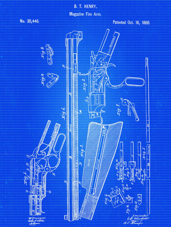 Winchester Repeating Rifle Patent Print