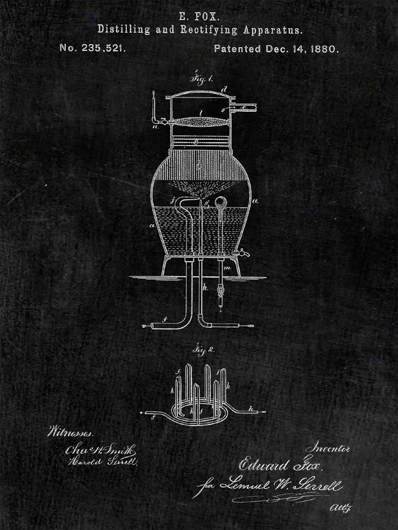 Whiskey Distiller Patent Print from 1880 - Patent Poster - Whiskey Art - Bar - Whiskey Print