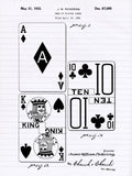 Patent Print - Deck of Playing Cards Patent Art Poster Card Game Solitaire Casino Blackjack Rummy