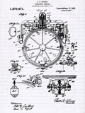 Gyrocompass Patent Poster - Patent Art - Patent Print - Patent Poster - Nautical Art - Nautical Decor