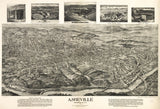 Vintage Asheville Print, Aerial Asheville Photo, Vintage Asheville NC Pic, Old Asheville Photo, Asheville North Carolina Poster, 1912