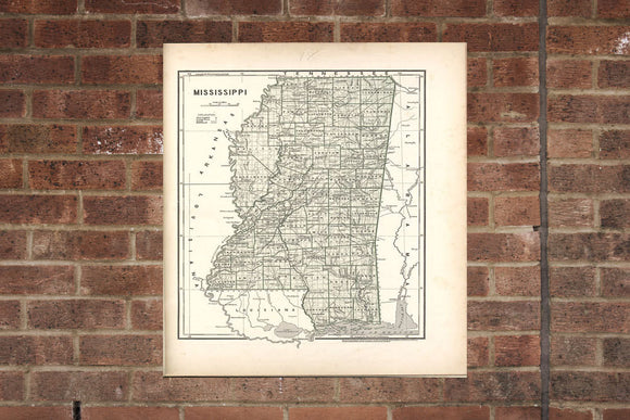 Vintage Louisiana Print, Aerial Louisiana Photo, Vintage LA Pic, Old Louisiana Photo, Louisiana Poster, 1842