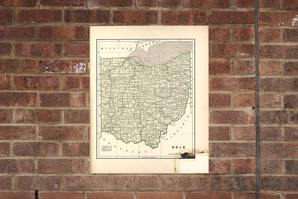 Vintage Ohio Print, Aerial Ohio Photo, Vintage OH Pic, Old Ohio Photo, Ohio Poster, 1842