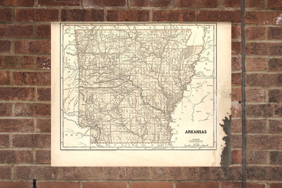 Vintage Arkansas Print, Aerial Arkansas Photo, Vintage AR Pic, Old Arkansas Photo, Arkansas Poster, 1842